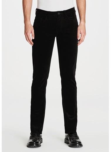 Mavi Kadife Pantolon | Marcus - Slim Siyah
